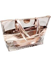 NANJUN Gorgeous Clear Shoulder Bags Tote Handbag With A Interior Zipper Pouch