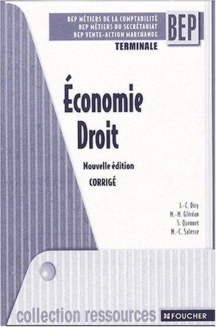 Ressources : Économie - Droit, terminale BEP (guide pédagogique) (Ancienne Edition)