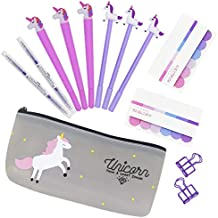 5ff00746a6 Penne per Unicorno Simpatico Regalo, 6 pezzi Penne a Sfera Scrittura liscia  Firma Nera Penna
