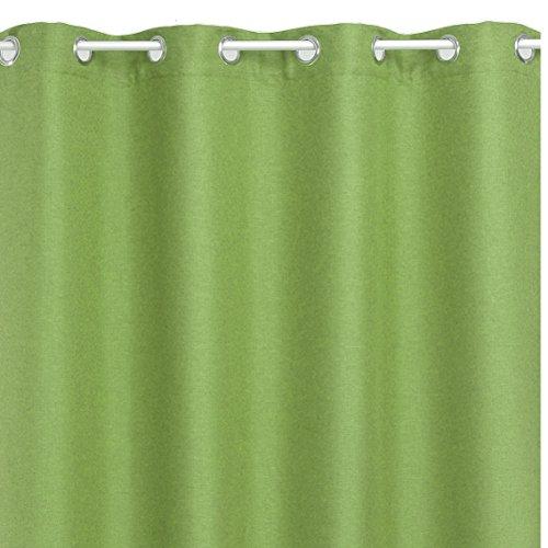 Ösenschal Brilliant Leinenoptik Eckig 140x240 cm Hellgrün Grün - Farbe wählbar mit Fleckschutz -...