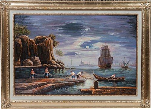 dipinto-a-mano-olio-su-tela-con-cornice-in-legno-finitura-foglia-oro-110x3x80-cm