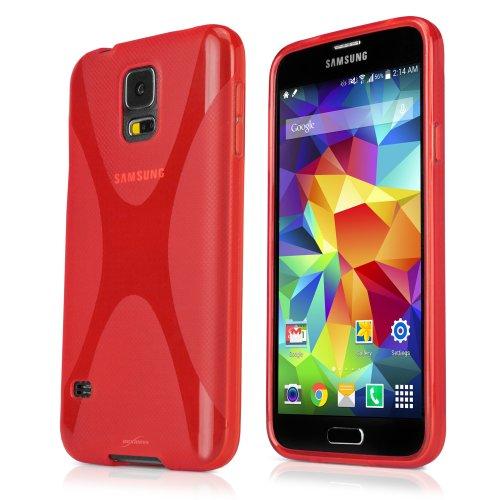 BoxWave Samsung Galaxy S5Bodysuit-Premium Slim Fit TPU Schutzhülle Gel Skin Fall, Texturized für extra rutschfestem Griff für Das Galaxy S5(Scarlet Rot) (Fall Samsung Gel S5 Galaxy)