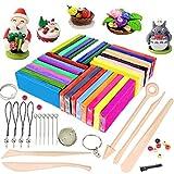 iFergoo Pâte à modeler, 32 couleurs Pâte Polymère, DIY Clay Kit avec 5 outils de modélisation, tutoriels et accessoires, 1.73lb/785g