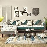 YJRH Nordique Impression Couverture de canapé d'angle 1pièce Salon Coton Canapé...