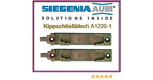 Fensterkipp-Verriegelungsplatte!! 2 St/ücke!!! Kipp-Schiebeplatte 2 X SI Siegenia Kippschlie/ßblech A1220-1