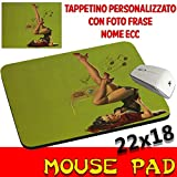 csm Informatica Mousepad Vintage Pin Up Sexy personalisiert mit Foto, Logo