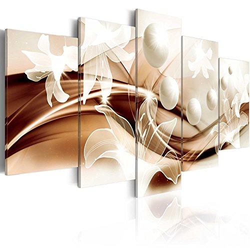 murando - Cuadro 100x50 cm - Abstracto - impresión de 5 Piezas - Material Tejido no Tejido - impresión artística - Imagen gráfica - Decoracion de Pared - Arte Flor b-A-0226-b-o