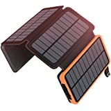 ADDTOP Solar Charger 25000mAh Portable Solar Power Bank with 4 Panels Waterproof Battery Pack for iPhone, iPad Samsung, and More Outdoor Camping