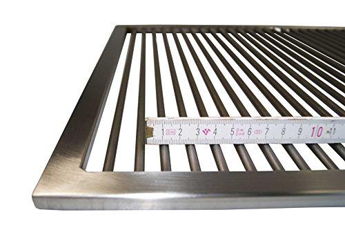 Edelstahl Grillrost 60,5 x 44,5 cm !! Nur 9 mm Lichter Stababstand !! für Weber Spirit E 310 320 330