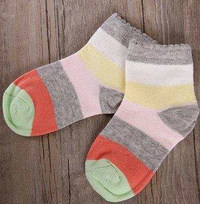 ZYTAN occasionnels respirant chaussettes, chaussettes de coton, l'absorption de sueur, Candy Candy stripe socks,6-9,5 paires