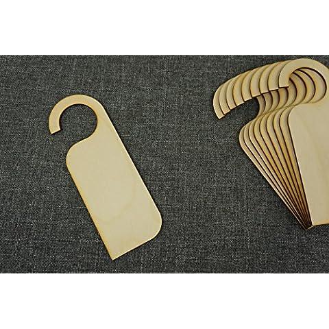 Zaw-C(10 x placa para puerta con texto perchas de madera sin pintar formas para artes marciales Decoupage Craft diseño de Star