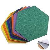 Sechskant Pinnwand Fliesen Kork Brett Fliesen selbstklebend Mehrfarbig 10 Stück