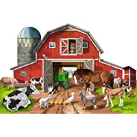 Melissa & Doug Busy Barn Shaped Jumbo Jigsaw Floor Puzzle (32 pcs, 0.6 x 0.9 meters)