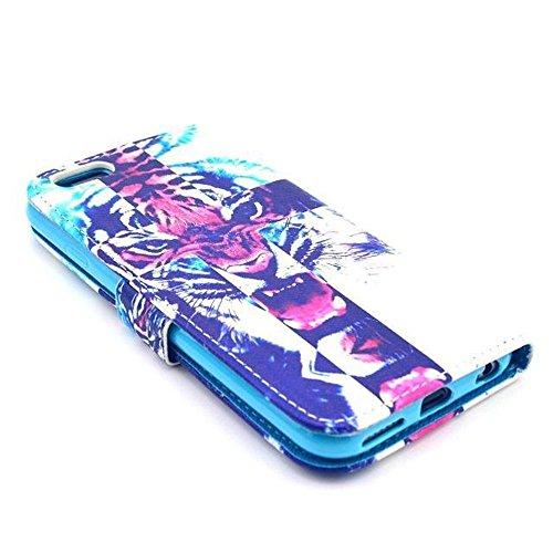 Aeontop 4 en 1 Custodia in pelle Protettiva Cuoio Portafoglio Flip Cover per Apple iPhone 6 4.7 con chiusura magnetica e funzione di supporto , Pellicola di Protezione e dello stilo Incluse , Modello modello 03