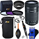 "Canon EF-S 55-250mm F4-5.6 Is""STM"" Lens For Canon SLR Cameras (International Version) + 3pc Filter Kit (UV,FL-D,CPL) + 8pc Bundle Accessory Kit W/HeroFiber Cleaning Cloth"