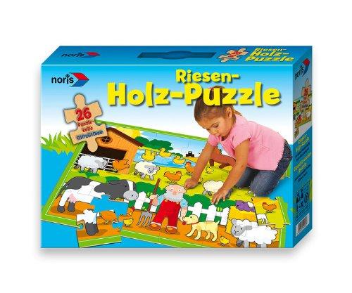 Noris 606034935 - Holz Boden Puzzle 26 Teile