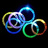 ZNME66 LED Armband 12er-Set Leuchtarmband Armreif Blinkleuchte Armbänder Leuchtband für Party Radsport Club Disco Joggen KTV Konzert Spielzeug