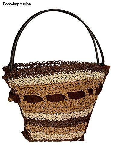 Rayher 6401205 Kunstleder-Taschengriffe, dunkelbraun, 50,5 x 2,5 cm, 1 Paar, für selbstgemachte Taschen aus Stoff, Kork, Bast usw., Trageriemen, Taschenhenkel