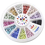 Bluelans® 12 Farben 3mm 3D Glitters Wassertropfen Strass Nagelsticker Schleife Nagel Art Sticker Dekoration