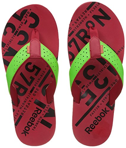 Reebok Unisex Gradient Flip Ii Lp Green, Red and Black Flip-Flops and House Slippers  - 8 UK  available at amazon for Rs.669