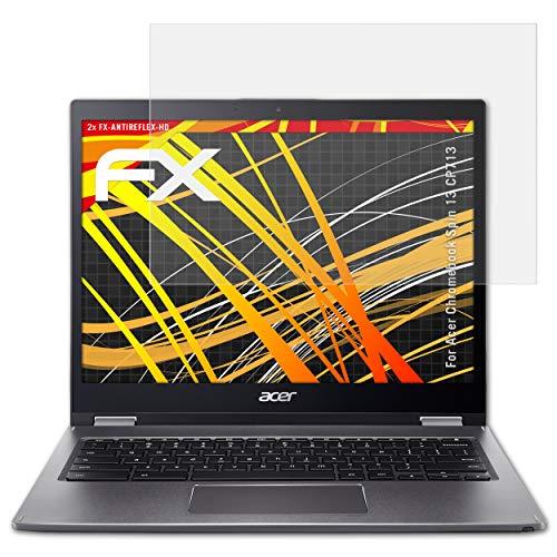 atFolix Schutzfolie kompatibel mit Acer Chromebook Spin 13 CP713 Bildschirmschutzfolie, HD-Entspiegelung FX Folie (2X)