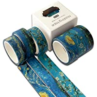 Shaoyanger 3Pcs Ocean Washi Tape Set Cute Adhesive Tape DIY Decoration Sticker Scrapbooking Diary Masking Tape