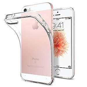 Spigen Case für Apple iPhone 5s Hülle ULTRA FIT [360° Protection - All Around Protection Hard Cover] - Tasche für Apple iPhoen 5s / iPhone 5 - Schutzhülle transparente Rückseite & Rahmen transparent [Clear Capsule - SGP10618]