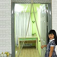 EFGUFHC Plastic magnetic fly screen door, Windproof Anti-mosquito Air conditioning curtain, Kitchen Oil-proof Magnetic screen door-A 170x240cm(67x94inch)