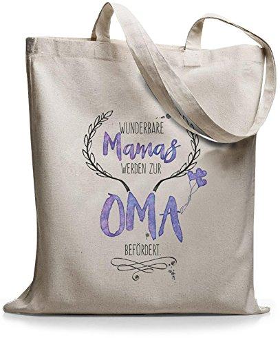 StyloBags Jutebeutel / Tasche Wunderbare Mamas werden zur Oma befördert Natur