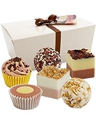 BRUBAKER Cosmetics Boules de Bain - 6 Pièces - Coffret cadeau 'Chocolate Love' - Vegan