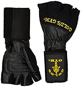 Gold's Gym Wrist Wrap Weight Lifting Glove - Black, Medium
