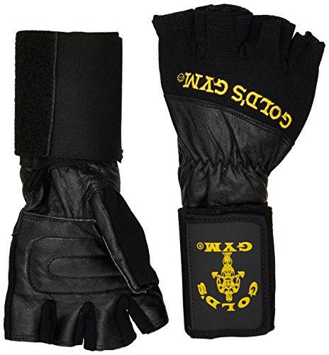 Gold's Gym Herren Fitnesshandschuhe Wrist Wrap Gloves, Schwarz, M, GG-G2823