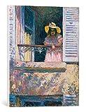 """Quadro su tela: Henri Lebasque """"Junges Mädchen mit Sonnenhut am Fenster"""" - stampa artistica di alta qualità, tela con intelaiatura in legno, quadro pronto per essere appeso, 45x55 cm"""