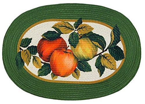 Oval Rug Collection (Sweet Home Collection ACH-BRAID-RUG-FARM-250 geflochtener Küchenteppich Bedruckt oval 20