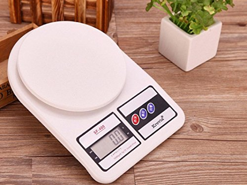 SG-Mart Krevia Plastic Electronic Digital LCD Kitchen Weight Scale Machine,...