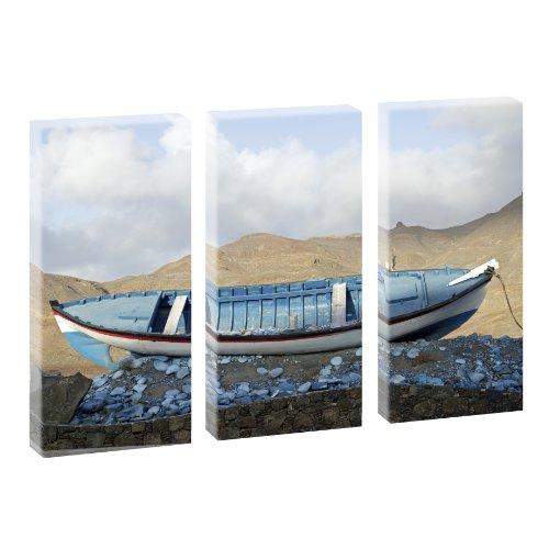 Kunstdruck auf Leinwand - Strandboot - mehrteilig - 130cm x 80cm