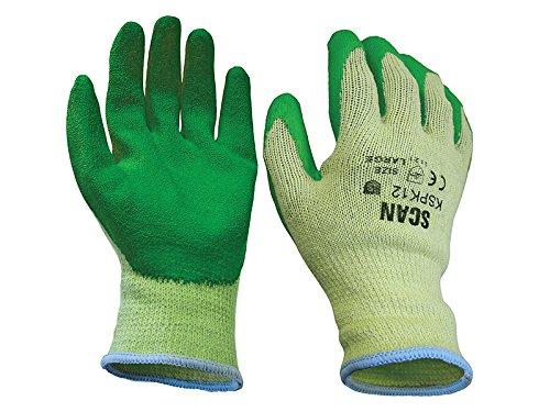 Scan GLOKSPKXL Gants tricotés Revêtement en latex sur les paumes Vert