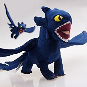 """How To Train Your Dragon Deluxe 17.5"""" X 21.5"""" Figure NIGHT FURY TOOTHLESS Figure Plush Doll Soft Toy collectible -UK XTRAFUN ESSENTIAL"""