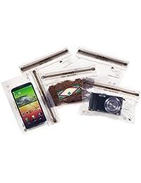 Noaks Bags 60.01.011 - Pack de 5 bolsas secas con cierre zip (100% impermeables y herméticas), transparente, tamaño S