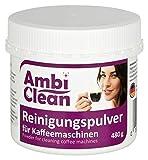 AmbiClean® Reinigungspulver für Kaffeemaschinen, Kaffeevollautomaten und Espresso-Maschinen, geschmacksneutraler Reiniger mit Aktivsauerstoff - 480 g