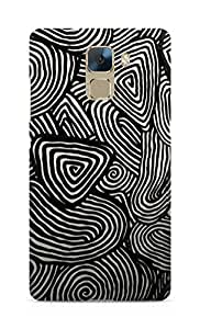 Amez designer printed 3d premium high quality back case cover for Huawei Honor 7 (Metal Pattern3)