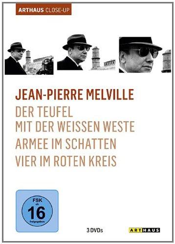 Bild von Jean-Pierre Melville - Arthaus Close-Up ( Der Teufel mit der weißen Weste / Armee im Schatten / Vier im roten Kreis ) [3 DVDs]