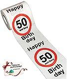 Unbekannt 1 Rolle _ Toilettenpapier -  50. Geburtstag / Fünfzig und Sexy - Happy Birthd..