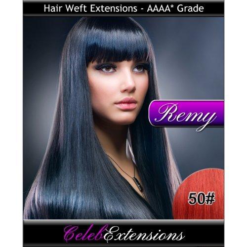 50,8 cm 50 # Cerise Indiens 100% humains Remy Hair Extensions capillaires Cheveux. Tissage Silky droit 6 m Poids : 100 g AAAA de grande qualité. Qualité. Par celebextensions
