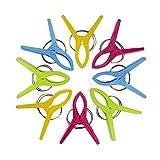 Pingxia 8 Stück Große Wäscheklammern Kunststoff Handtuch Strand Klammer Quilt Clips (Zufällige Farbe)