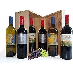 I Migliori Vini della Sicilia in Cassetta Legno - Confezioni Regalo Vino Siciliano
