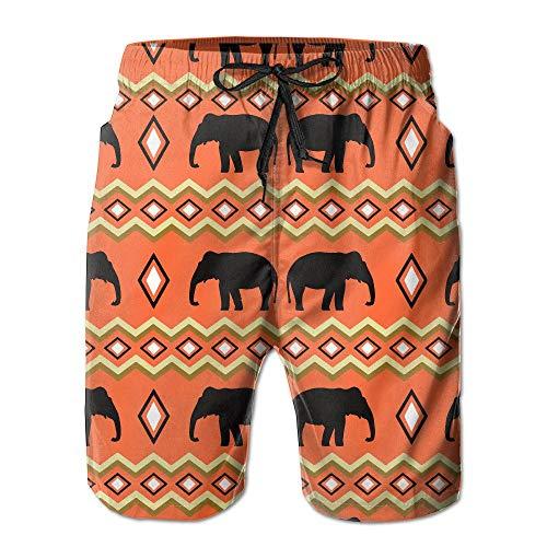 b32b711582 Pillowcase shop AW Men's Lightweight Quick Dry Beach Shorts Boho Style  Elephant Swim Trunks XX-