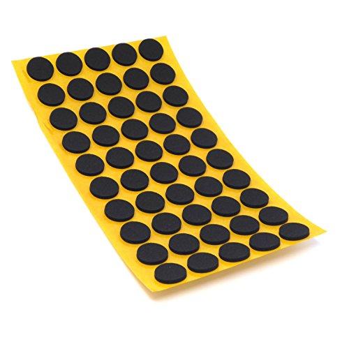 50 x Antirutsch Pads aus EPDM/Zellkautschuk   rund   Ø 16 mm   Schwarz   selbstklebend   Rutschhemmende Pads inTop-Qualität (2.5 mm)