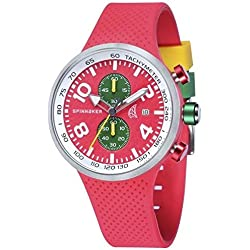 Spinnaker Dynamic Men's Quartz Watch with Red Dial Chronograph Display on Red Silicon Band SP-5029-03