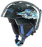 Uvex Manic Casque de Ski pour Enfant, Enfant, S5662262001, Black Snow Dog, 46-50 cm